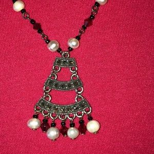 Jewelry - Vintage look Sterling necklace and earrings